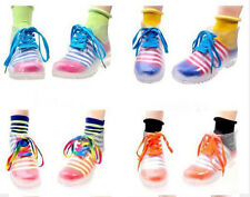 CREATIVE Clear Women rain shoes rubber short Ankle Martin Boots socks lace FREE
