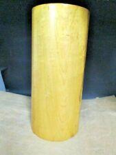 Wood Pedestal Plinth Display Stand Cylinder, Vintage, Heavy. Solid