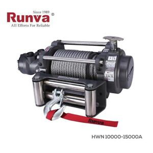 Hydraulische Seilwinde NHW 10000 4500kg 12V,Hydraulikwinde,Zugwinde,Bergewinde
