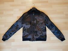 Dolce Gabbana Cuir Camouflage Veste homme - £ 2800 RRP-Neuf-Taille 56
