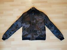 DOLCE GABBANA LEATHER CAMO CAMOUFLAGE MENS JACKET - £2800 RRP - NEW - SIZE 56