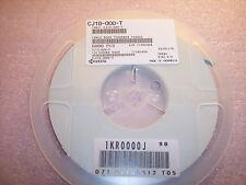 QTY (5000)  0603 0 Ohm ZERO JUMPER SMD CHIP RESISTORS CJ10-000-T KYOCERA