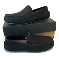 Men's UGG Loafer Slippers Size UK 8 black Suede New Boxed