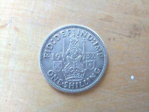 1937 GEORGE VI SCOTTISH SILVER SHILLING CIRCULATED COIN