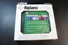 Brand NEW Garmin MapSource US Waterways & Lights w/ trips & waypoint feature