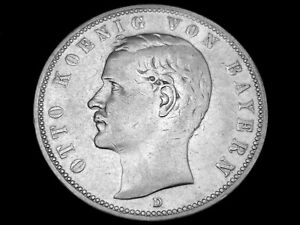 Dt. Reich, Bayern, 5 Mark, 1904 D, Otto, J.-46, Silber, orig., ss/vz.!