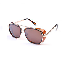 Iron Man 3 Robert Downey Jr. New Tony Stark Sunglasses Brown Frame Square Shades