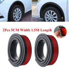 59''*1.97'' Car Wheel Eyebrow Extension Protector Arch Extenders Black Universal