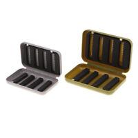 Perfeclan 2PCS Portable Fly Fishing Storage Cases Slit Foam Hooks Baits Box