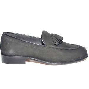 scarpe uomo mocassino moda maschile classico con campanelle bon bon vera pelle a