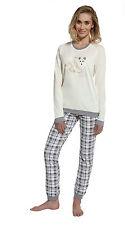 Damen-Nachtwäsche mit Langarm-Pyjamaoberteil-Art im Pyjama-Sets-Stil für Freizeit