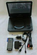 WONNIE 9,5 Zoll DVD Player schwenkbar Schwarz W928 tragbarer DVD Player
