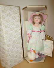 """Franklin Mint 12"""" bisque The GOOSE GIRL by Carol Lawson MIB 1986"""