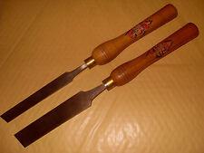 """2 x Spear & Jackson legno tornitura strumenti 1 1/4 """"E 3/4"""" - COME FOTO"""