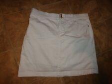 Women's Charter Club Stretch White Skort W/ Stretchy Waist Size 14