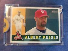 ALBERT PUJOLS 2009 TOPPS HERITAGE VAULT CARDINALS BLANK BACK CARD #1/1 COA