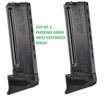 Lot of 2 - Phoenix Arms HP22 Extended Magazine 22LR 10 Round HP22A Finger Ext