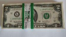New ListingBep 2003 A 100 $2.00 Us Money Paper Uncirculated Crisp New Bills.