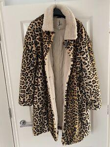 anthropologie Jkt Vegan Leopard Print Coat Size S 10/12