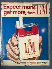 Vintage L&M Cigarettes Metal Sign