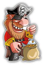 Cartoon Pirate Gold Car Bumper Sticker Decal  ''SIZES''