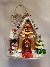Cottage Style House With Lights Christmas Tree Ornament Brand New with tags