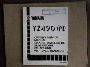 Genuine workshop manual for YAMAHA YZ490N, 1985 , #57H.