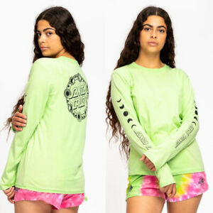 SANTA CRUZ  Womens Phase Dot L/S Tee, size 8 Skateboard / Surf - T-Shirt