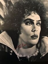 Tim Curry Signed Rocky Horror Picture Show 8X10 Black & White Photo Coa