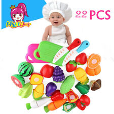 22-Piece Cutting Cooking Toy Sets - Pretend Play ABS Clean&Safe Kitchen Toys IG