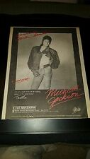 Michael Jackson Wanna Be Startin' Something Rare Radio Promo Poster Ad Framed!