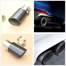 63MM Real Carbon Fiber Gloss Car Rear Exhaust Pipe Muffler Tip Cover Waterproof