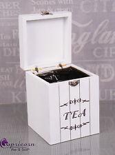 Shabby chic Tea Box Storage  Retro/Vintage/Shabby New White