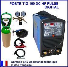 POSTE A SOUDER SOUDAGE TIG WIG 160 DC HF DIGITAL LED + GAZ ARGON + détendeur