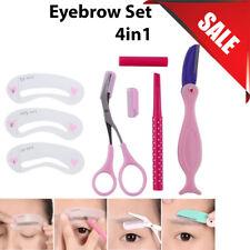 Eyebrow set Pencil Razor Scissor Stencil Styles Template Shaping Shape brow kit