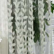 Norbi Willow Voile Tulle Room Window Curtain Sheer Voile Panel Drapes Curtain x