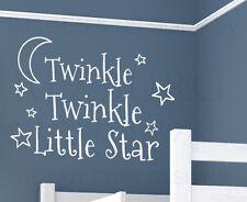 Wall Decal Art Vinyl Sticker Quote Twinkle Twinkle Little Star Baby's Room B98