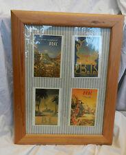Framed Set of Four Vintage Travel Postcards - Vintage / Retro Art
