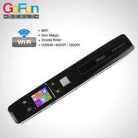 iSCAN 1050DPI Weiß WIFI Dokumenten Scanner Buch Handheld A4 JPG HandyScanner NEU