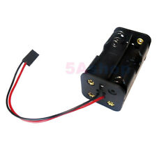 Battery Holder 4 Size AA 2A LR6 Case 6V Box Wire With 3P DuPont Jumper Connector