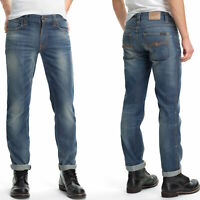 Nudie Herren Regular Slim Fit Used Look Jeans Hose | Slim Jim Broken Dream