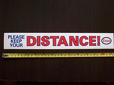 "ESSO MOTOR OILS ""Keep Your Distance"" Vintage 1980s Sticker Decal ESSO UNLEADED"