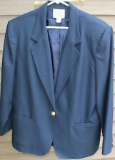 Woman's 2-Piece Navy Blue Skirt Suit by Classic Collection; Size:  16/14