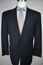 Jos. A. Bank Navy Blue Pinstripe Wool Blend Two Button Two Piece Suit Size: 43R