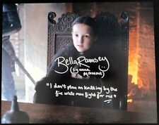 Bella Ramsey Signed 11x14 Lyanna Mormont Game of Thrones w/Quote Exact Proof