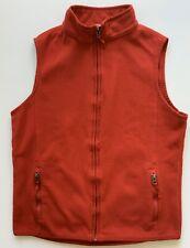 Lands End Boys Red Fleece Vest, Size L 18-20