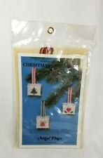 Cross Stitch Kit Christmas Miniature Ornament Baskets  - Astor Place 1983