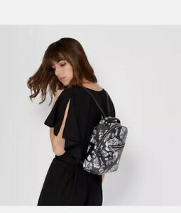 Fiorelli Anouk Floral Backpack Rucksack Faux Leather, In Black, White, Pink,