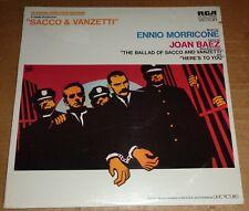 Ennio Morricone/Joan Baez SACCO & VANZETTI Soundtrack - RCA LSP-4612 SEALED