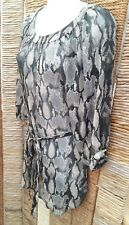 DOROTHY PERKINS BNWT Snakeskin Sheer Long Belted Tunic Top Size 8 RRP £38